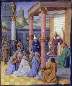 Cyrus the Great and the Hebrews by Jean Fouquet