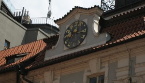 Hebrew clock, Prague, Czech Republic