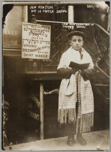 Boy in Tallit, Jewish New Year, 1911