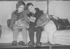 Jewish children arriving in England on the Kindertransport, 1938