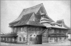17th c. Zabudlow wooden synagogue in Poland destroyed in the Holocaust