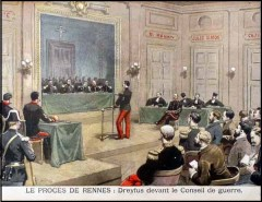 Alfred Dreyfus at his Trial